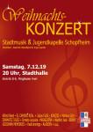 Plakat zum Weihnachtskonzert (c) Stadtmusik Schopfheim